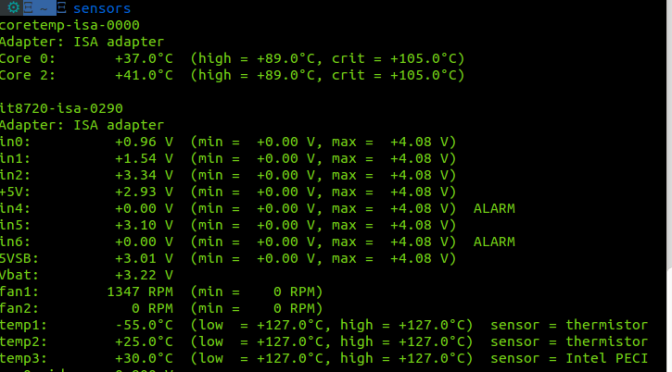 Install and configure lm-sensors on Linux